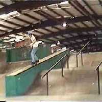 50-50 Ledge At Central Skatepark In Tampa.