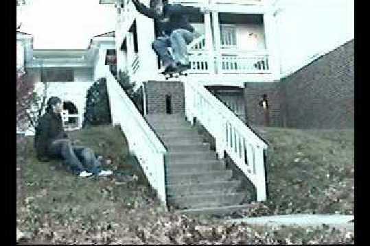 Huge 11 Stair Ollie...